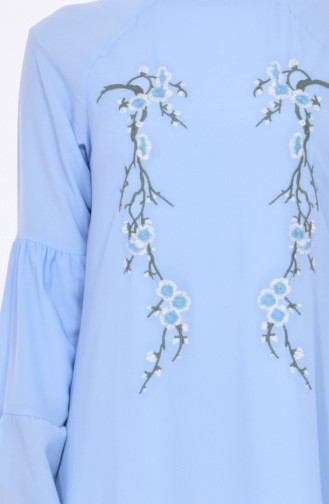 Embroidered Detailed Dress 1902-06 Baby Blue 1902-06