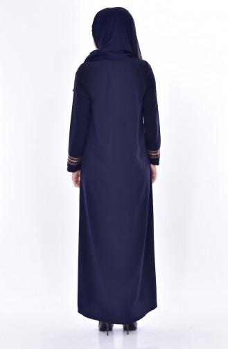 Navy Blue Abaya 1080-02