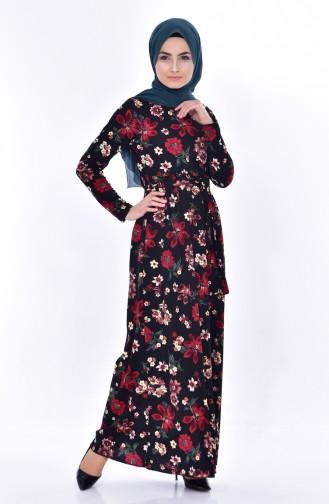 Rot Hijap Kleider 1022-03