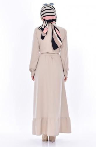 Beige Dress 8026-03