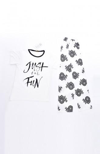 Ensemble Pyjama Pour Femme 0511K-01 Ecru 0511K-01