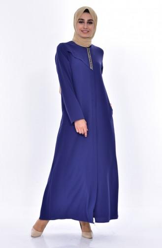 Kleid mit Strassstein 0070-01 İndigo 0070-01