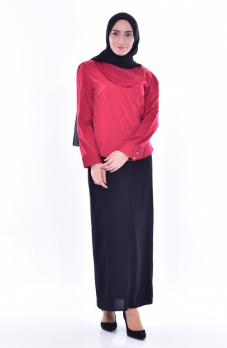 Claret red Blouse 0037-01