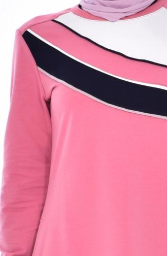 Garnili Spor Elbise 8190-04 Gül Kurusu