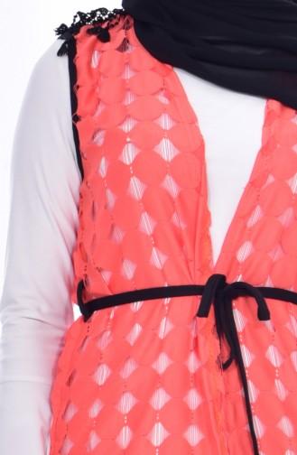 Pinkish Orange Vest 2211-07