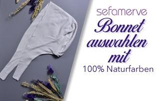 100% natürliche gefärbte Sefamerve Bonnet Modelle