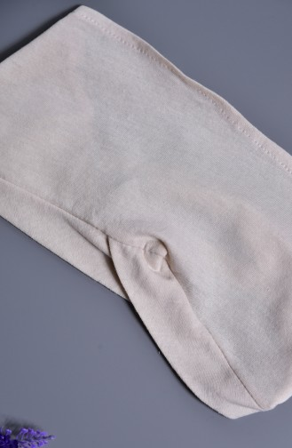 Sefamerve Bonnet Bande Couleur 100% Naturelle 202-04 Beige 202-04