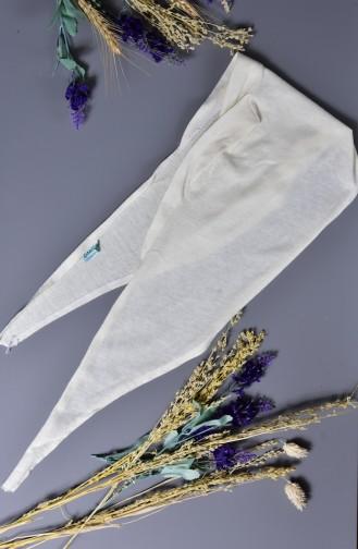 Sefamerve Bonnet Bande Couleur 100% Naturelle 202-01 Ecru 202-01