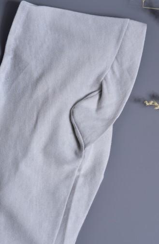 Sefamerve Bonnet Bande Couleur 100% Naturelle 202-03 Gris 202-03