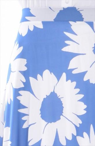 Jupe Emprime 8867-01 Bleu 8867-01