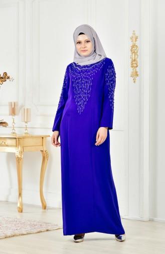 Übergröße Kleid mit Perlen 6146-05 Saks 6146-05