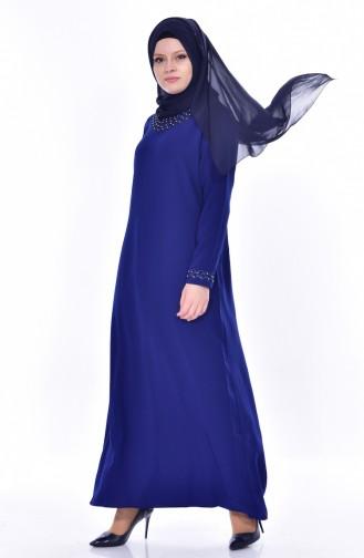 Übergröße Kleid mit Perlen 8113-06 Saks 8113-06