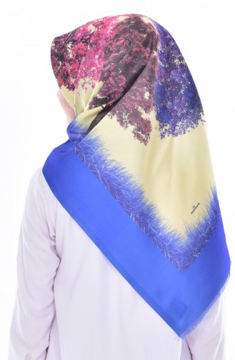 Patterned Taffeta Scarf 95179-06 Saks 06