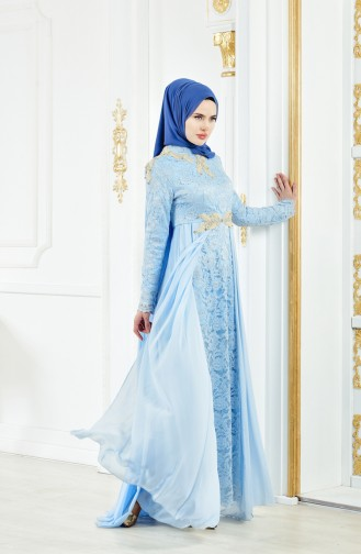 Lace Evening Dress 8110-02 Baby Blue 8110-02