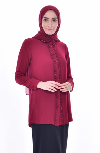 Claret red Blouse 4063A-04