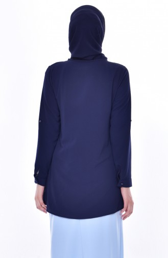 Navy Blue Blouse 4066-06