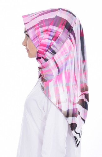 Patterned Twill Scarf 95183-05 Pink 05