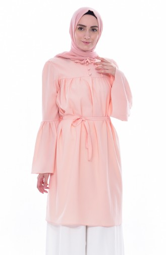 Buttoned Pleated Tunic 3179-14 Powder 3179-14