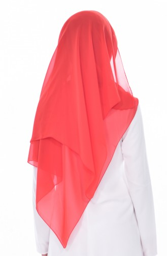 Plain Chiffon Shawl60103-01 Coral 60103-01