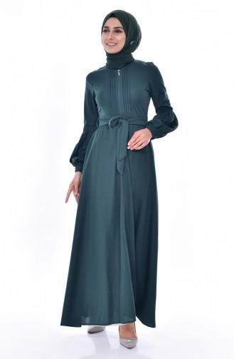 فستان أخضر زمردي 0559-03