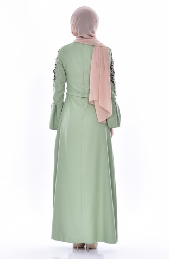 Green İslamitische Jurk 0578-01