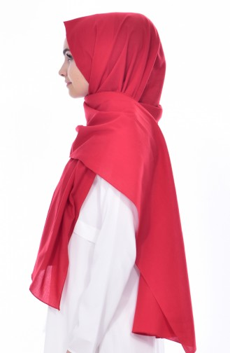 Plain Cotton Shawl 60065-02 Red 02