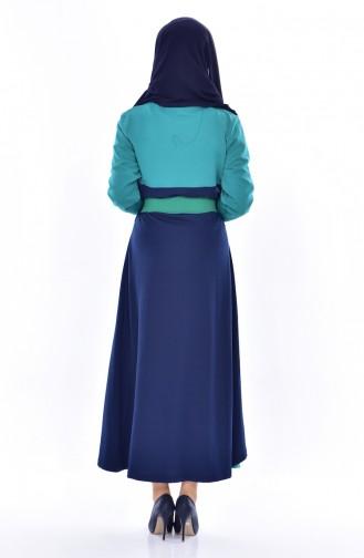 فستان أخضر حشيشي 0030-01