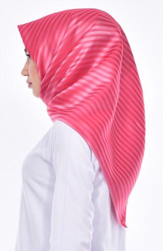 Striped Taffeta Scarf 901310-04 Pink 04