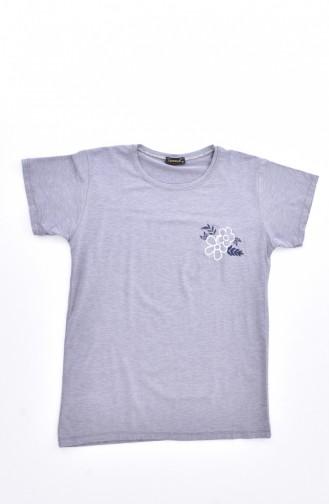 Ensemble Pyjama Pour Femme 0590-01 Blanc Gris 0590-01