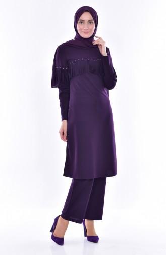 Tunic Pants Double Suit 4467-03 Purple 4467-03