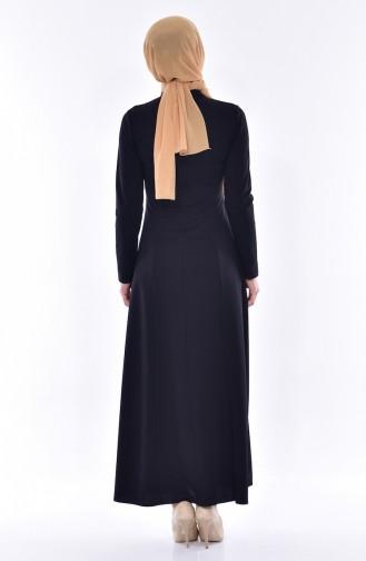 Dantelli Elbise 4466-05 Siyah 4466-05