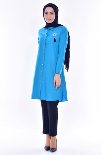 Brooch Tunic 6006-04 Turquoise 6006-04