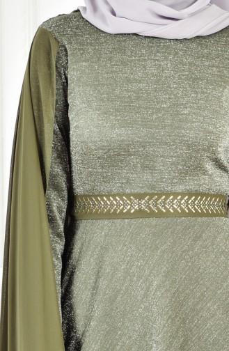 Robe de Soirée a Paillette 6405-03 Khaki 6405-03