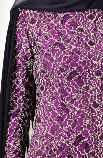 Lacy Evening Dress 0403-04 Purple 0403-04