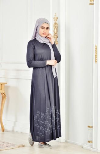 Sefamerve Umre Dress 6087-09 Gray 6087-09