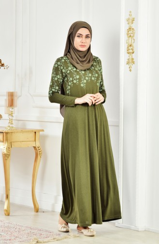 Sefamerve Umrah Kleid 6090-01 Khaki 6090-01