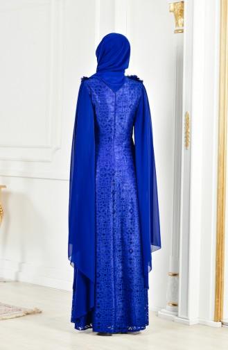 Lace V-neck Evening Dress 8113-03 Saks 8113-03