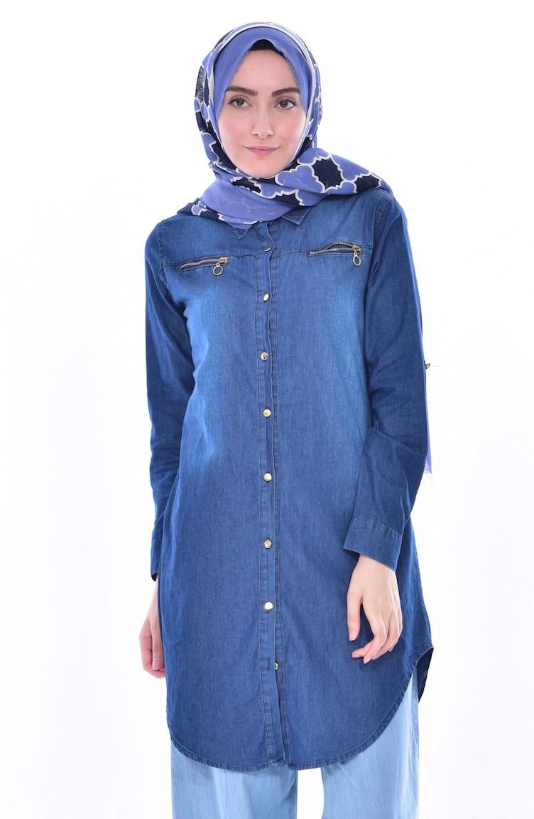 67be17d8c Jeans Blue Tunic 8015-01