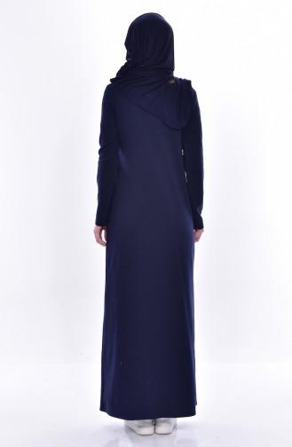 Takım Görünümlü Elbise 2895-21 Lacivert Bordo 2895-21