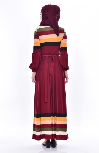Dilber  Pleated Dress 6091-03 Bordeaux 6091-03