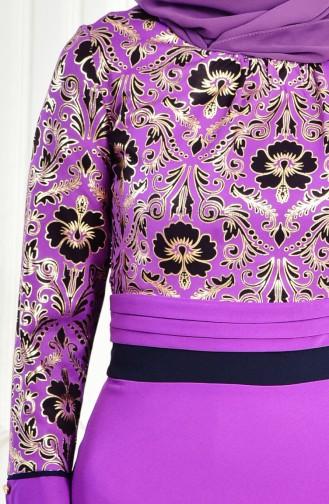 Robe Imprimée 2249-03 Pourpre 2249-03
