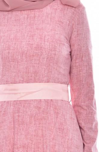 Gemustertes Kleid 3259-06 Pink 3259-06