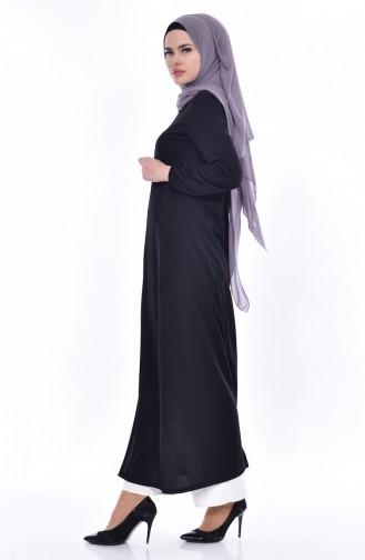 Abaya Manches élastique 3044-01 Noir 3044-01