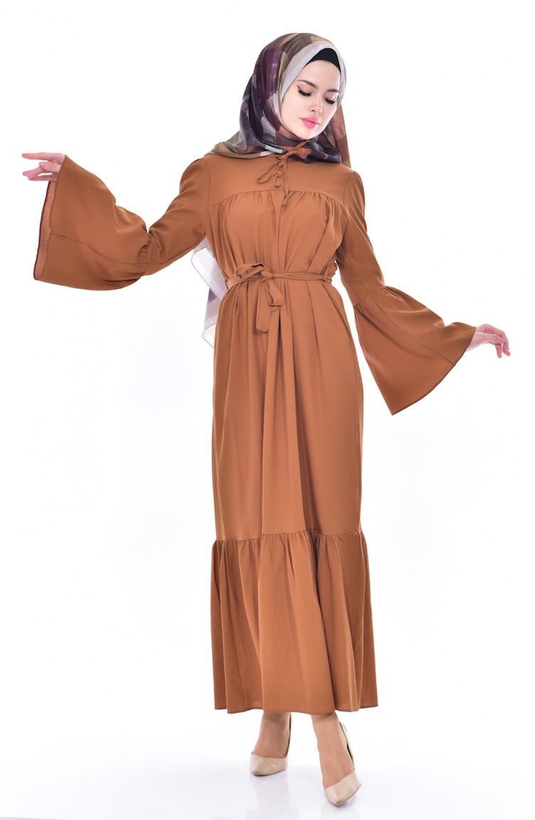 71788ed2aa4 Tobacco Brown Dress 8033-13