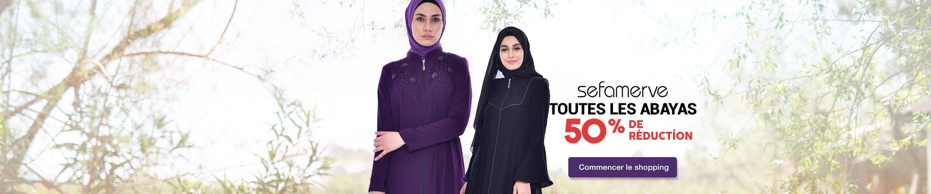 Tous Les Abayas Sefamerve 50% de Réduction