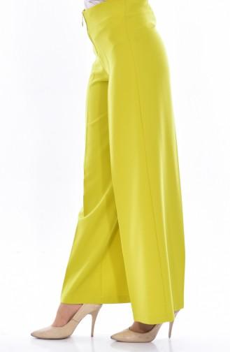 Pantalon Large a Fermeture 3095-12 Vert Pistache 3095-12