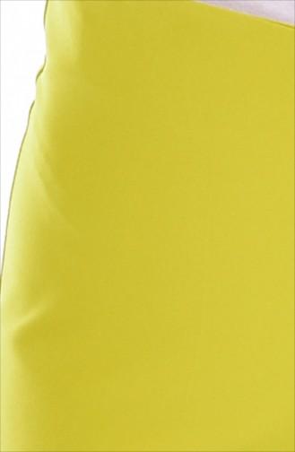 Fermuarlı Bol Paça Pantolon 3095-12 Fıstık Yeşil 3095-12
