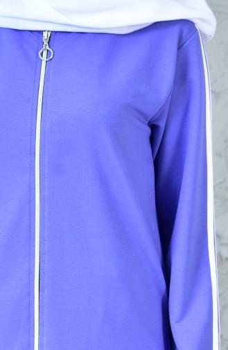 بدلة رياضية بتصميم سحاب 18090-10 لون ليلكي 18090-10