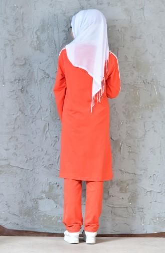 Ensemble Survêtement a Fermeture 18090-11 Orange 18090-11