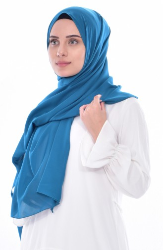 Plain Chiffon Shawl 70072-14 Petrol Green 14